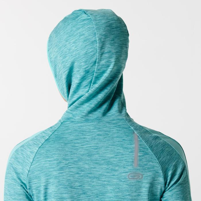Hoodie met lange mouwen jogging dames Run Warm lichtgroen