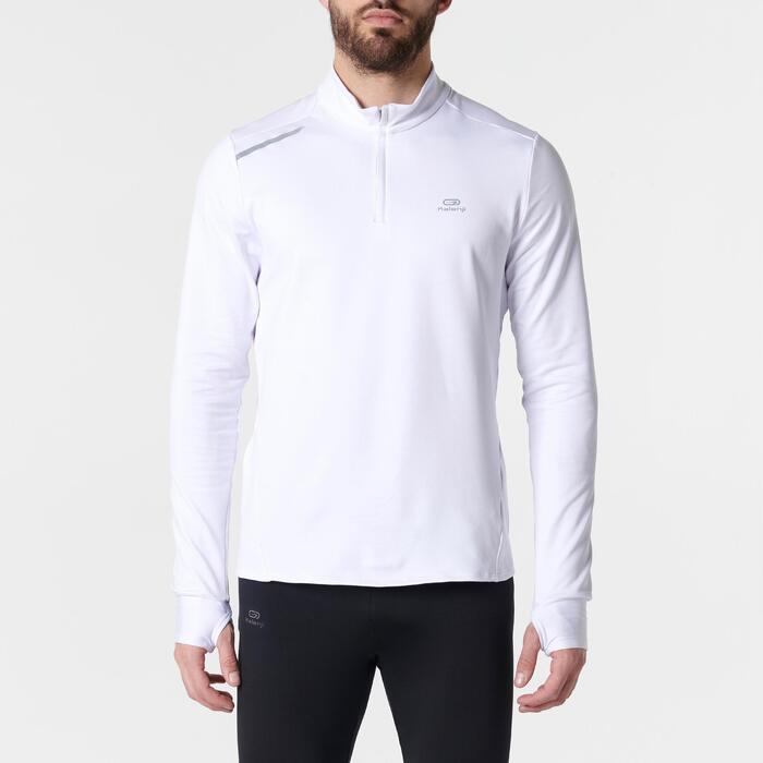 Hardloopshirt met lange mouwen voor heren Run Warm wit - 1351972