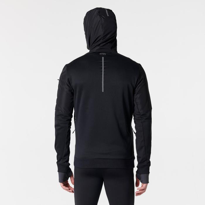 Laufjacke Run Warm+ Herren schwarz