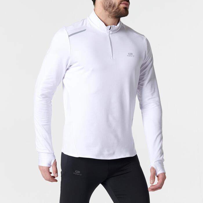Hardloopshirt met lange mouwen voor heren Run Warm wit - 1351980