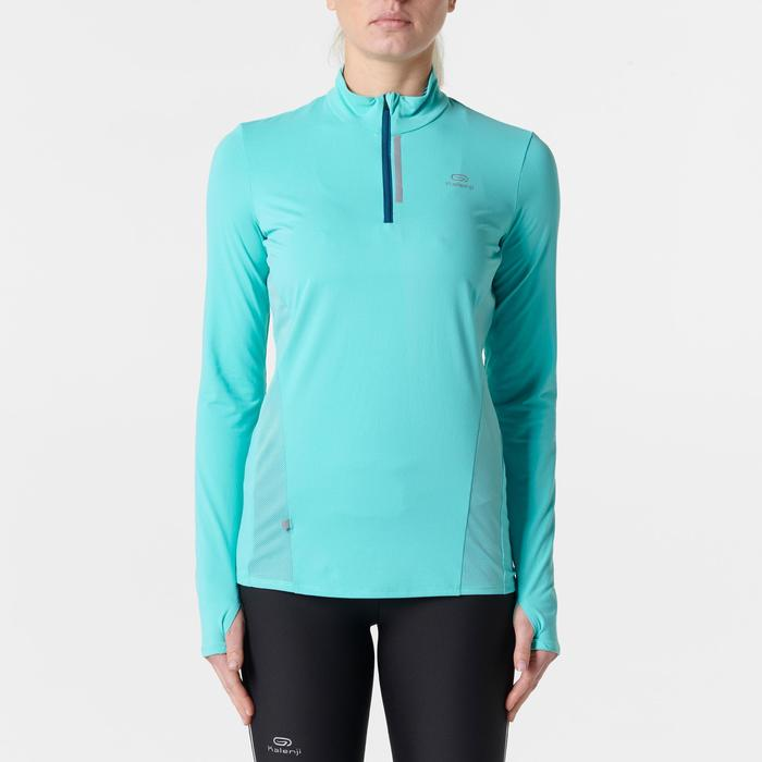 MAILLOT MANCHES LONGUES JOGGING FEMME RUN DRY+ ZIP - 1351984