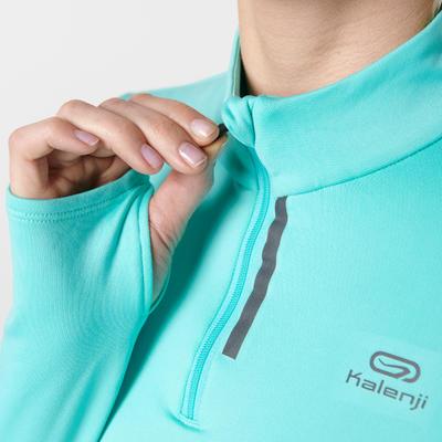 Жіноча футболка Run Warm для бігу, з довгим рукавом - Чорна