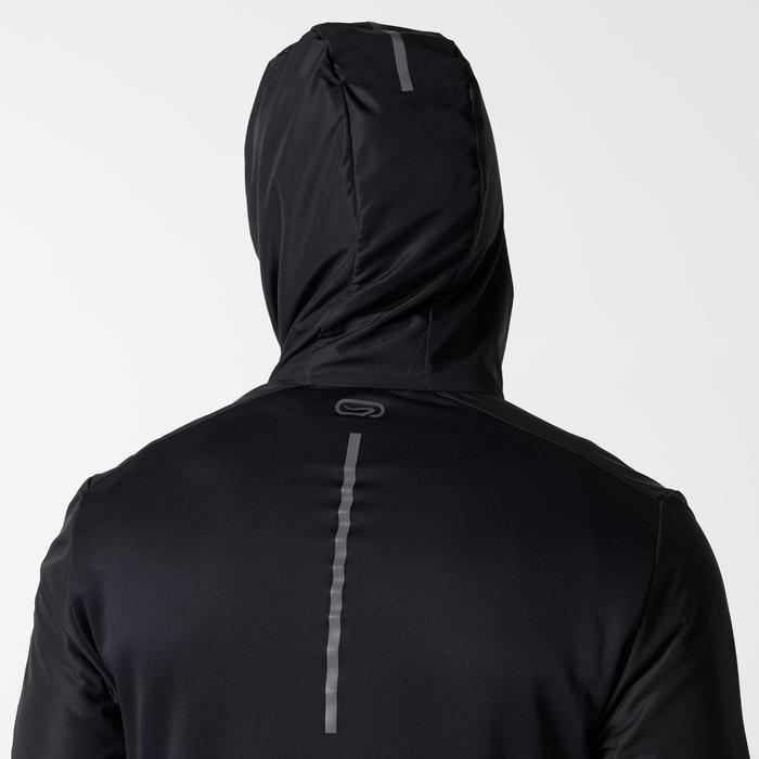 Chaqueta Running Kalenji Run Warm+ Hombre Negro Cremallera Capucha