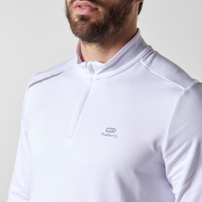 Hardloopshirt met lange mouwen voor heren Run Warm wit - 1352020