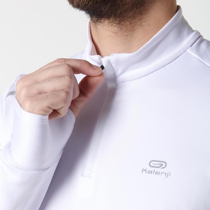 Hardloopshirt met lange mouwen voor heren Run Warm wit - 1352030