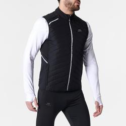 Men's Running Sleeveless Jacket Run Warm+ - black