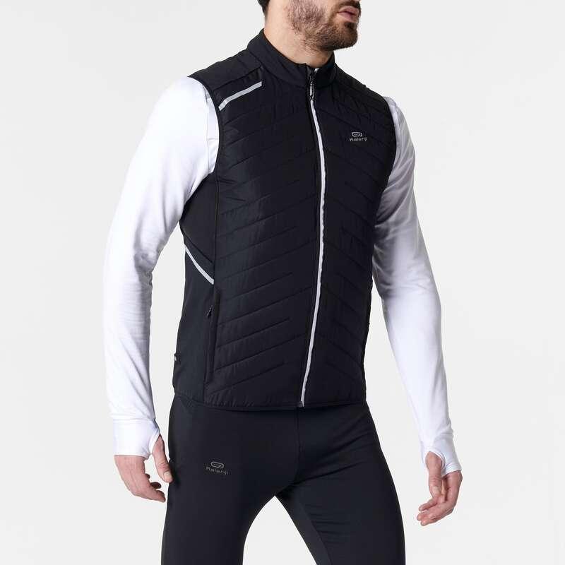 Férfi őszi-téli ruházat - rendszeres Futás - Férfi futómellény RUN WARM + KALENJI - Futás