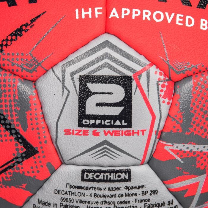Handbal voor volwassenen H900 IHF maat 2 roze / grijs