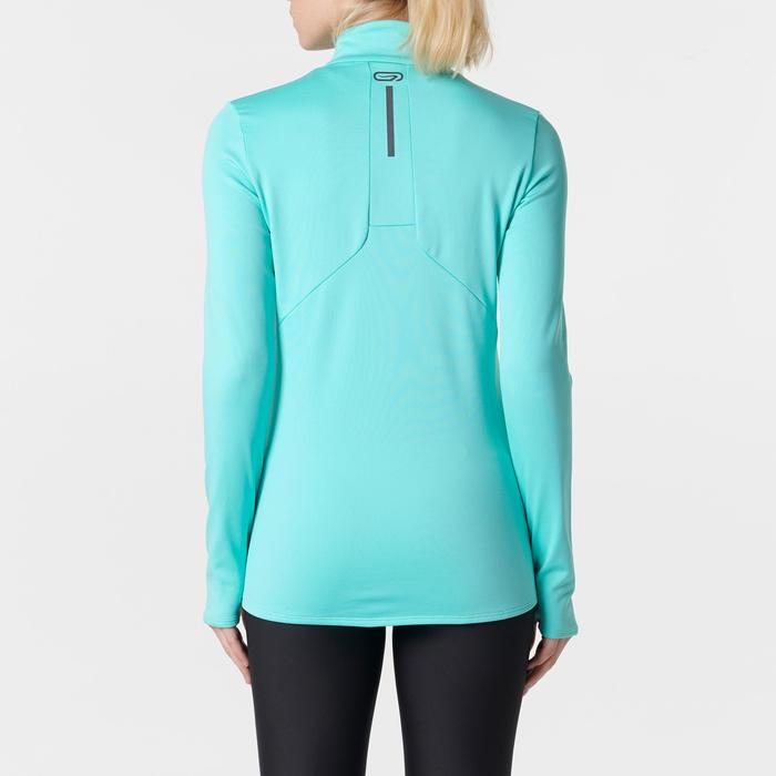 Laufshirt langarm Run Warm Damen mint