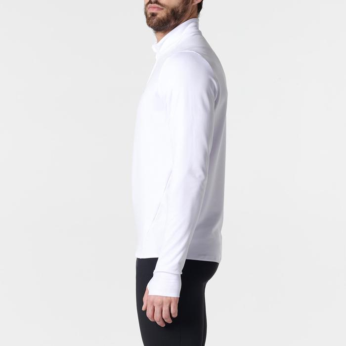 男款保暖跑步長袖T恤RUN WARM - 白色