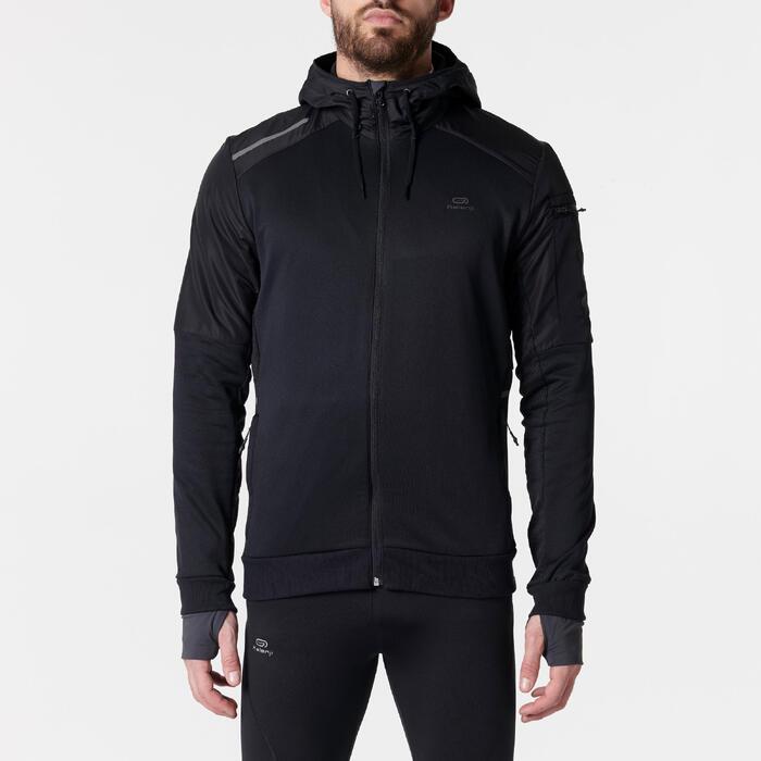 Laufjacke Run Warm+ Pocket Herren schwarz