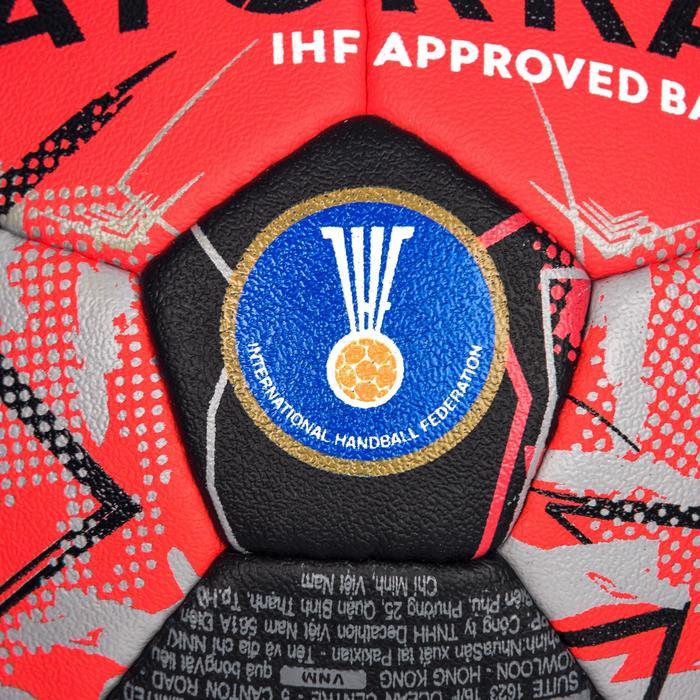 Ballon de handball H900 IHF Taille 3 rouge et noir