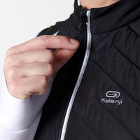 RUN WARM + MEN'S RUNNING SLEEVELESS JACKET - BLACK