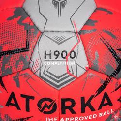Handball H900 IHF Größe 2 rosa/grau