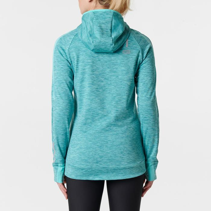 Run Warm Women's Running Long-Sleeved Jersey Hood - Mottled Grey  - 1352105