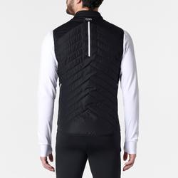 Hardloopjack mouwloos hardloopvest voor heren Run Warm+ zwart