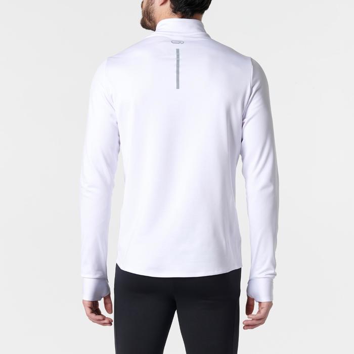 Hardloopshirt met lange mouwen voor heren Run Warm wit - 1352129