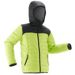 Wattierte Jacke Wandern MH500 Kinder 128-164cm schwarz/grün