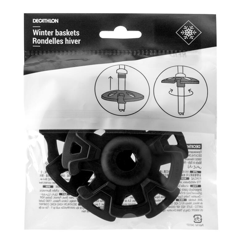 Set of Two Winter Baskets for Hiking Poles - Black