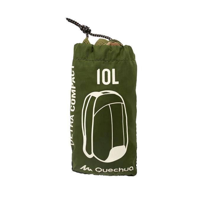 Mochila auxiliar ultracompacta 10 L verde