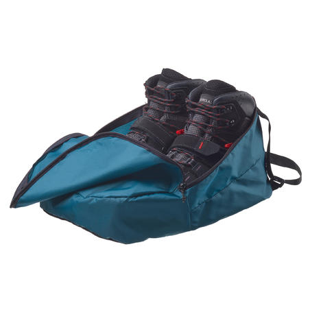 Hiking shoe storage bag for sizes 4 to 10.