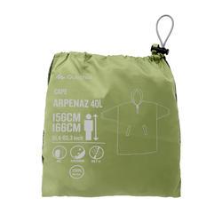 Capa impermeable senderismo y trekking montaña ARPENAZ 40 litros XXS/XS VERDE