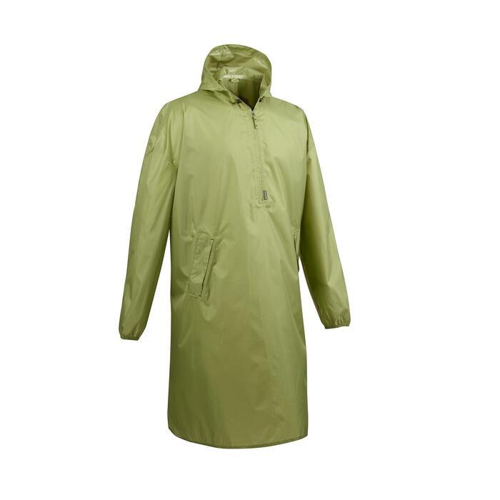 Poncho pluie de randonnée - ARPENAZ 40L vert - Taille XS