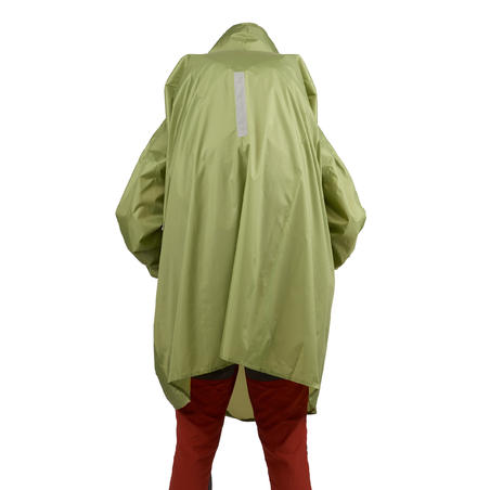 Hiking Rain Poncho - ARPENAZ 40 L - Size L/XL - Green