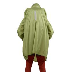 Poncho pluie de randonnée - ARPENAZ 40L vert - Taille L/XL