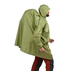 Regenponcho voor bergtrekking Arpenaz 40 liter maat L/XL groen
