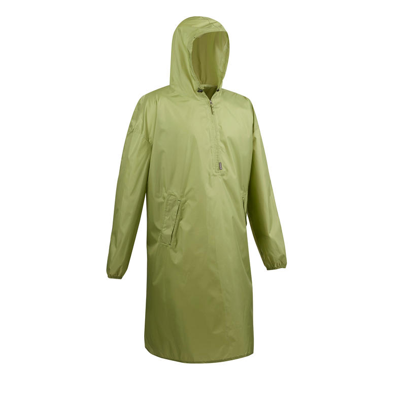 Hiking Rain Poncho - ARPENAZ 40 L - Size L/XL - Green