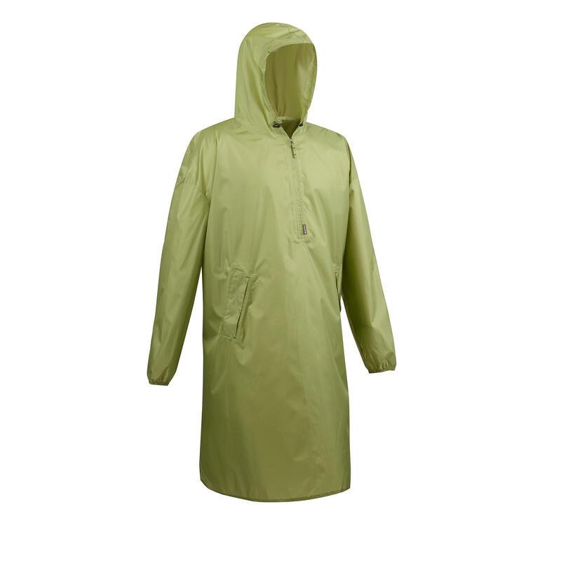 Poncho impermeável de caminhada - ARPENAZ 40L verde Tamanho XS