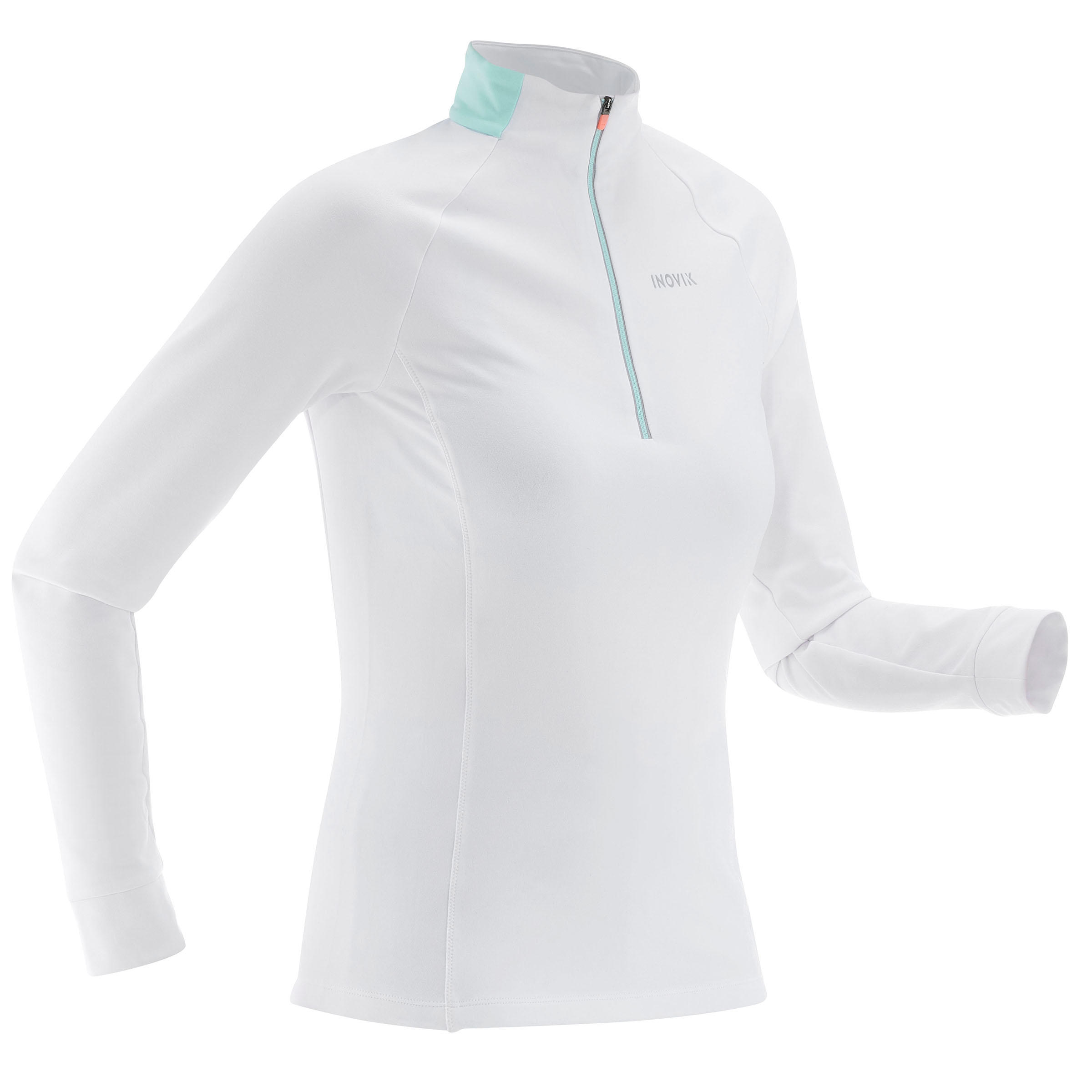 T-shirt chaud de ski de fond femme XC S T-S 100 blanc