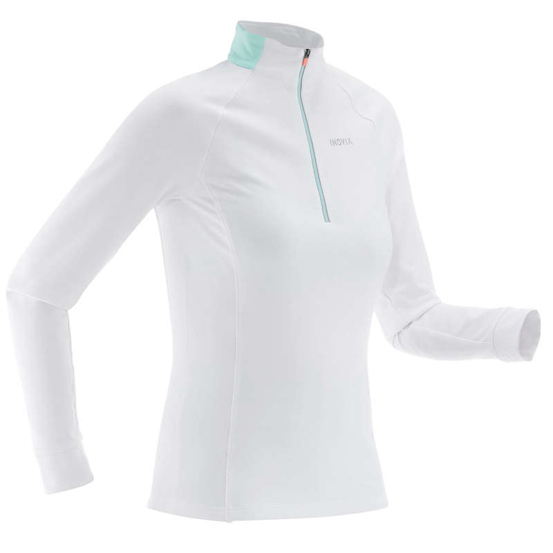 ODJEĆA ZA SKIJAŠKO TRČANJE ZA ODRASLE Ženska odjeća - Majica XC S 100 topla ženska INOVIK - Ženske majice dugih rukava