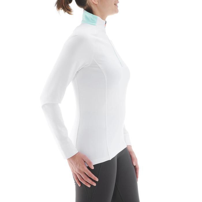 Camiseta cálida de esquí de fondo mujer XC S T-S 100 blanco