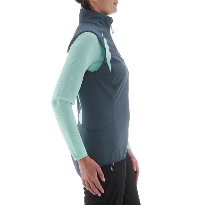 Gilet de ski de fond femme XC S VEST 500 gris bleu
