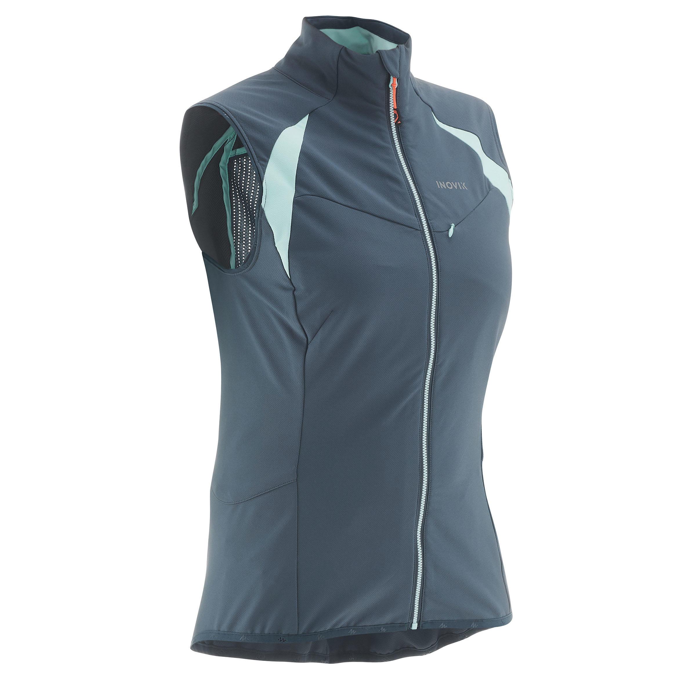 Inovik Mouwloos damesvest XC S Vest 500 grijs/blauw