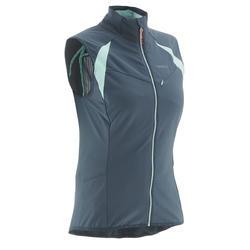 Mouwloos damesvest XC S Vest 500 grijs/blauw