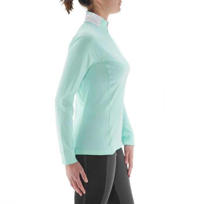 Tee-shirt léger manches longues vert XC S TS 500 femme
