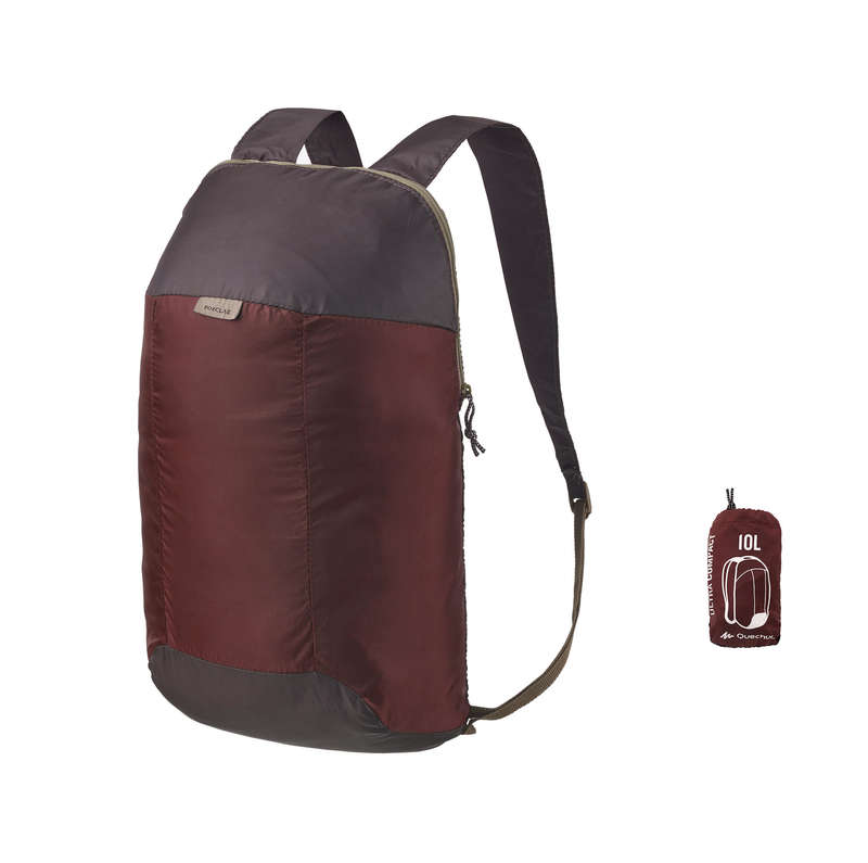COMPACT BACKPACKS TRAVEL ACC TRAVEL TREK Hiking - Ultra-Compact Hiking Backpack 10L - Brown QUECHUA - Hiking
