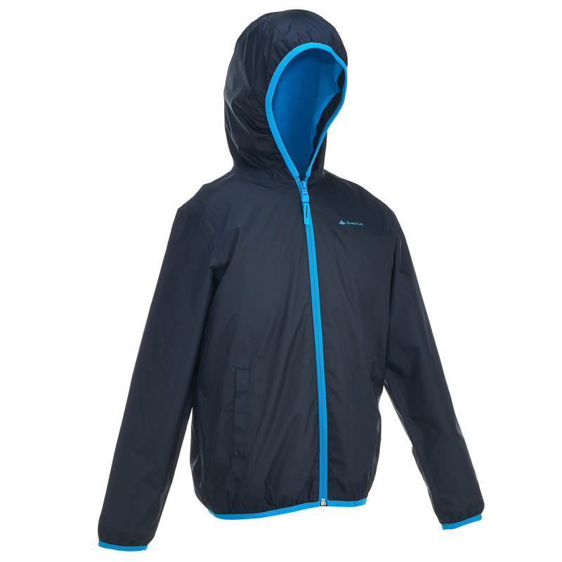 Chamarra cálida impermeable travesía niña Hike 50 Warm azul marino