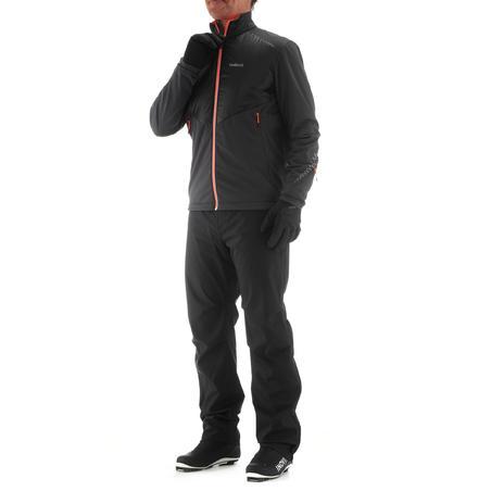 Men's Cross-Country Ski Top-Layer Pants XC S Overp 150 - Black