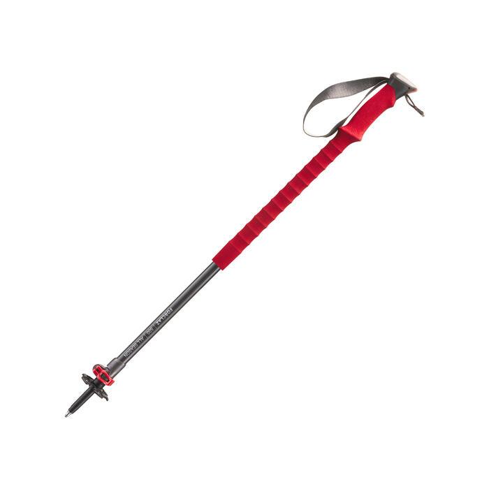 1 bâton de Randonnée forclaz 500 All season rouge - 1352410