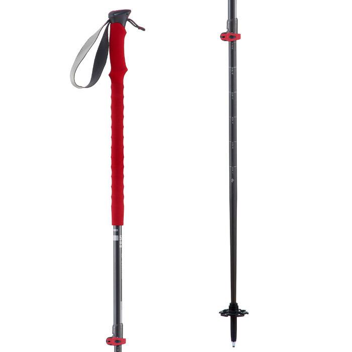 1 bâton de Randonnée forclaz 500 All season rouge - 1352411
