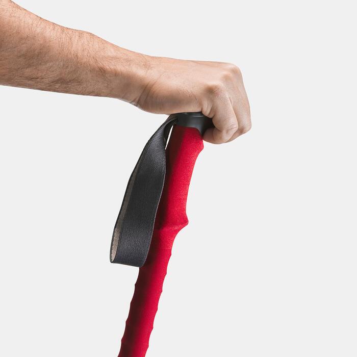 1 bâton de Randonnée forclaz 500 All season rouge - 1352419