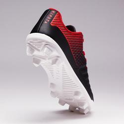 Voetbalschoenen voor jonge kinderen Agility 100 FG zwart wit droog terrein