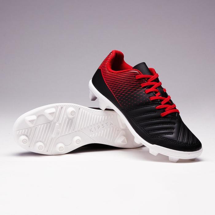 Chaussure de football Baby terrain sec Agility 100 FG noire blanche