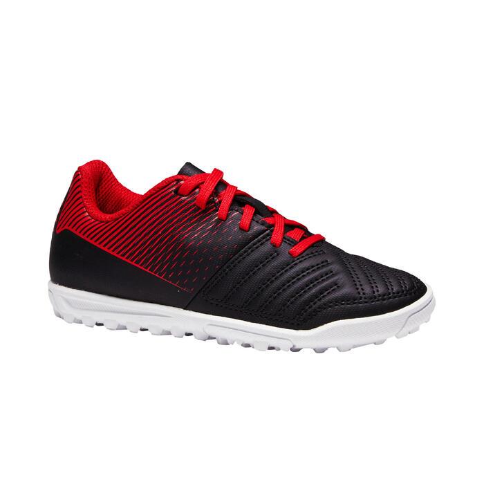 Chaussure de football enfant terrains durs Agility 100 HG noire blanche rouge - 1352499