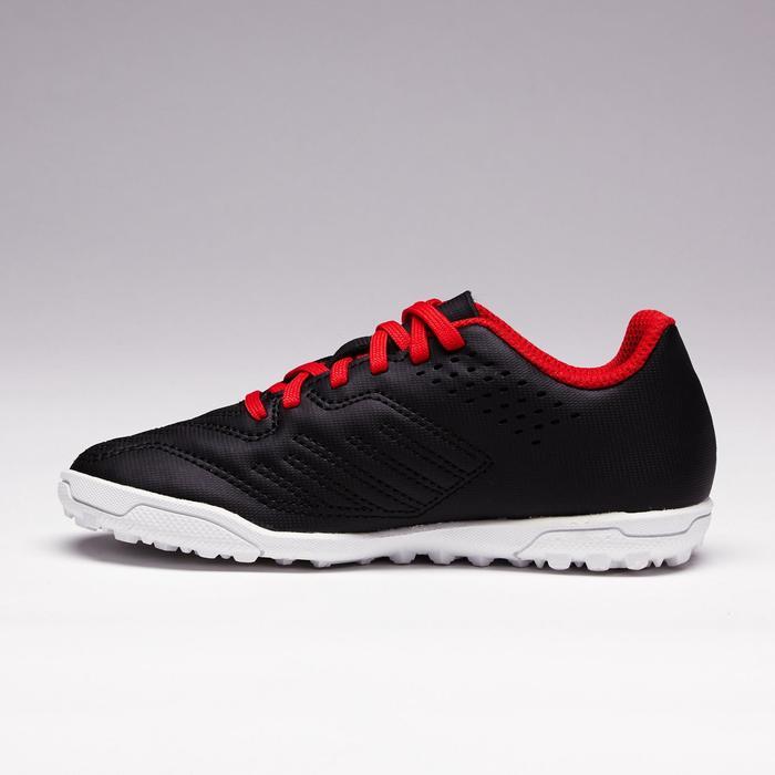 Chaussure de football enfant terrains durs Agility 100 HG noire blanche rouge - 1352501