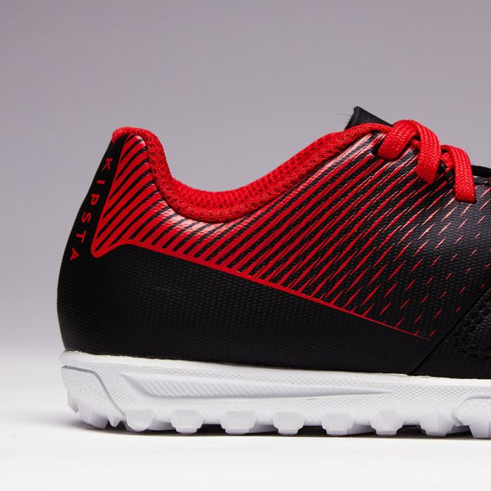 Chaussure de football enfant terrains durs Agility 100 HG noire blanche rouge - 1352503